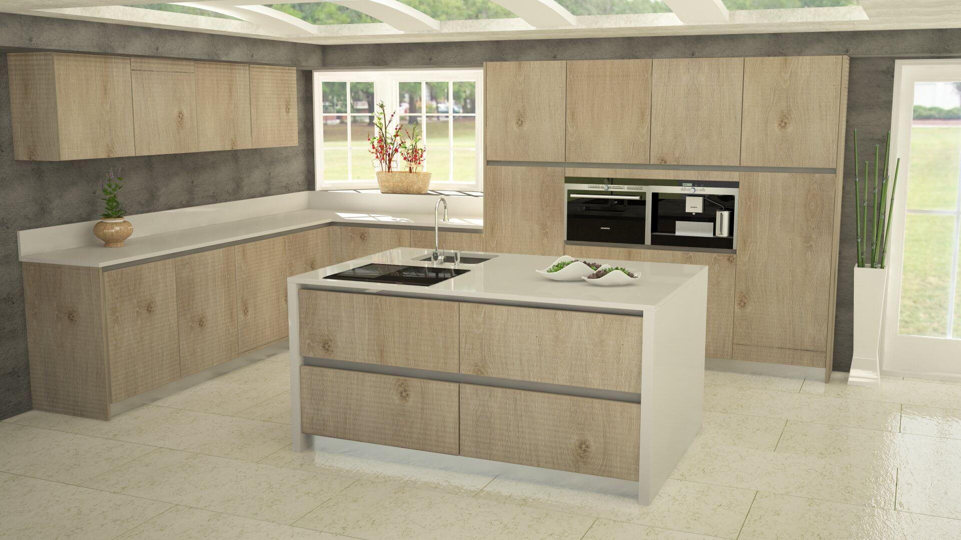 Colores Muebles De Cocina. Muebles De Cocina Modernos Con Mesadas ...