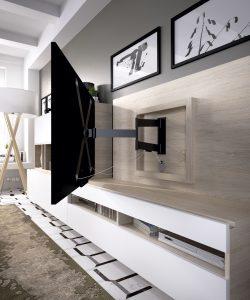 Soporte televisión integrado para salones