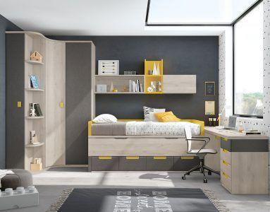 Dormitorios juveniles modernos habitaciones juveniles online - Muebles calle alcala ...