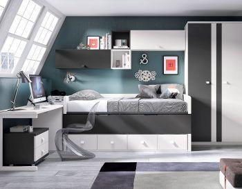 Dormitorio juvenil modelo formas.058