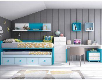Dormitorio juvenil modelo formas.061