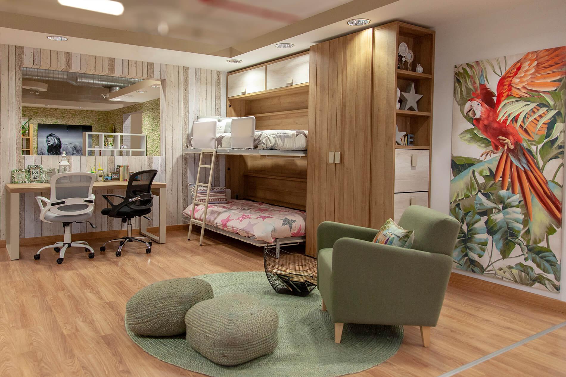Dormitorio juvenil con literas la grama