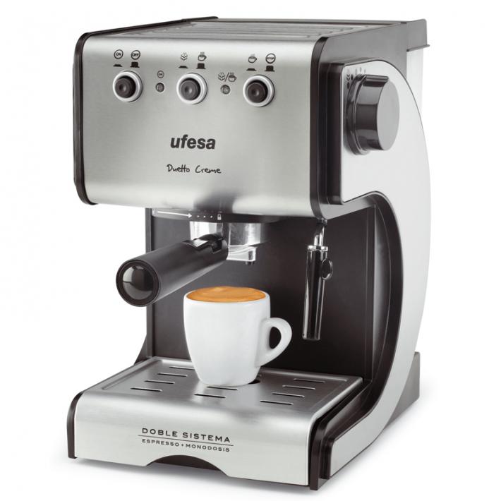 Cafetera Ufesa ce-7141 express duo inox